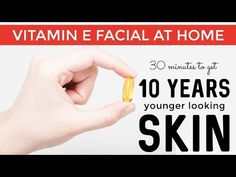 Vitamin E facial at home - Look 10 years younger in just 30 minutes - YouTube Facial Tips, Facial Care, Face Skin Care, Skin Care Masks, Younger Looking Skin, Homemade Skin Care, Cell Regeneration, Natural Skin Care, Natural Hair Mask