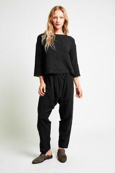 the PODOLLS - harem cotton gauze pants