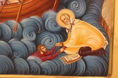 Calming The Storm, Saint Nicholas, Romanesque, Religious Art, Saints, Folk, Prayers, Princess Zelda, Drawings