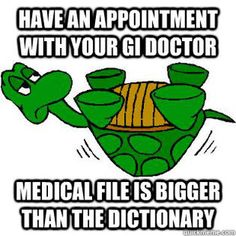 Gastroparesis Turtle - chart is bigger than the dictionary.
