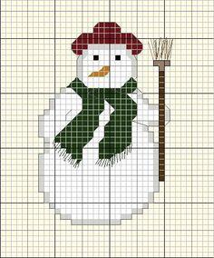 Grille Noël , Grille broderie gratuite à télécharger. Christmas embroidery