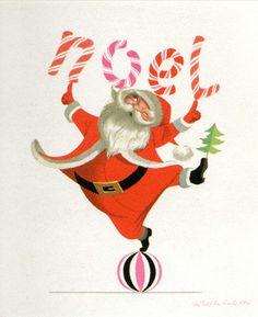 Vintage Christmas card by Ralph Hulett
