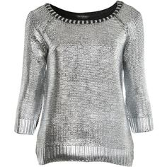 Silver Foil Printed Jumper ($35) ❤ liked on Polyvore featuring tops, sweaters, shirts, blusas, blouses, women, jumper shirt, shirt sweater, jumpers sweaters and shirt top