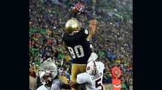"""""""Reigning in the Rain: Reflections on Notre Dame's Goal Line Stand against Stanford,"""" by Tom O'Toole -- Any time a home team wins a game in overtime, there's bound to be many storylines, and Notre Dame's 20-13 reign in the rain over Stanford was no different. But in the end, there was only one that mattered; the improbable goal line stand that kept the defense perfect against the run and """"together as one"""" all at the same time."""