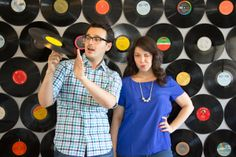 DIY Record Backdrop | Lovely Indeed