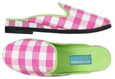 Pink Gingham slippers