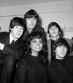 Mary Wells with The Beatles, Paul McCartney, George Harrison, Richard Starkey & John Lennon