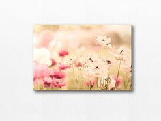 FLOWER PHOTOGRAPHY / PHOTOGRAPHY CANVAS PRINT / FLORAL CANVAS DECOR    A whimsical abstract print featuring wild grasses captured in pastel tones