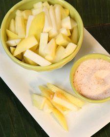Green Mangos w Chili, Salt, and Sugar..... YUM