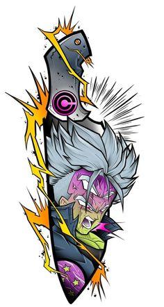 Future Trunks Dragon Ball Z Future Trunks Dragon Ball Z - Anime Cartoon Tattoos, Anime Tattoos, Dragon Ball Z, Comics Anime, Deadpool Pikachu, Manga Dragon, Comic Tattoo, Fan Art, Traditional Tattoo