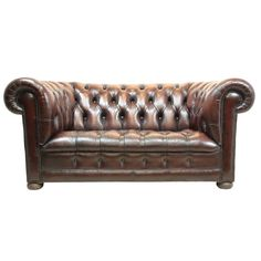 Vintage Leather Chesterfield | 1stdibs.com