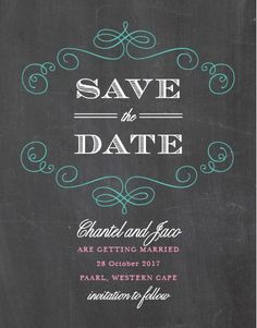 Fancy Chalkboard Save-the-Date Cards