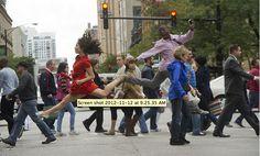 Photographer Jordan Matter capturing dancers in complex poses.