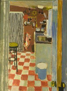 The Striped Curtain by Alberto Morrocco