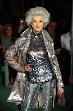 ** Jean Paul Gaultier : Runway - Paris Fashion Week Womenswear Fall/Winter 2014-2015 **Nice to see a mature women model who hasn't lost her edge! Kudos to Mr. Gaultier for realizing beauty is ageless!