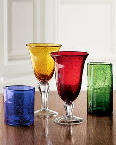 6 PCS Glassxy Bubble Double Old Fashioned Goblet Glass Beverage Glasses 14 OZ Amber Glass Gift for Festive time