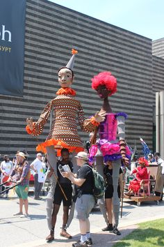Anne Cubberly's Giant Puppets at Parade the Circle, Cleveland