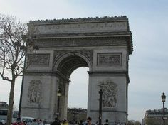 The Arc De Triomphe – This monument stands in the center of the Place Charles de Gaulle and is one of the most famous landmarks in Paris. Visitors can climb 284 steps to reach the top of the Arc where they will get information about the city's history, as well as some panoramic views.