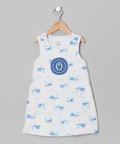 DIY inspiration: Blue Whale Initial Jumper - Infant by Lollypop Kids Clothing on #zulily #zulilyfinds