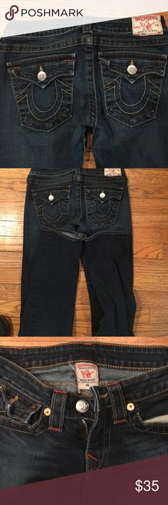 Woman's true religion jeans size 28 great shape True religion woman's jeans great shape size 28 inseam 33 please take a min to look at some of my other great items in my closet lots of items to bundle for a discount thank you for looking Billy's True Religion Jeans Straight Leg