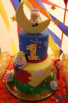 Nursery rhyme theme birthday cake