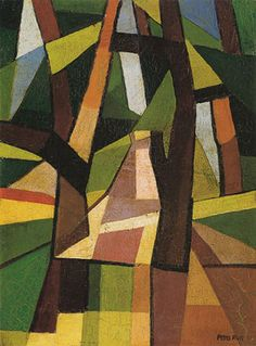 iArt — Emilio Pettoruti Il parco / The park,. Francis Picabia, Georges Braque, Tree Quilt, Emilio, Art Design, Geometric Art, Oeuvre D'art, Painting Techniques, Diy Painting