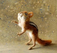 Wow, this is amazing!  Needle Felted Chipmunk by SarafinaFiberArt on Etsy, $115.00