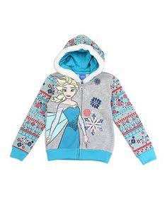 This Frozen Zip-Up Hoodie - Toddler & Girls is perfect! #zulilyfinds