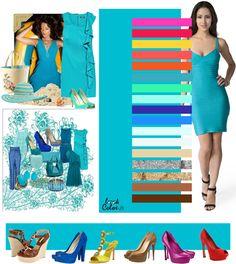 Цвет - бирюзово-синий