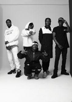 A$AP Mob Black and White. #mens #fashion