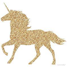 Glitter Gold Unicorn by CustomsByT