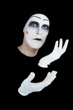 Mime face makeup is a tool in a mime's repertoire, but it's up to him to fully get his emotions across. Description from makeup.lovetoknow.com. I searched for this on bing.com/images