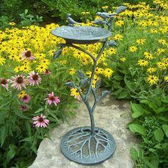 Gothic Font Stone Bird Bath For The Birds Pinterest Stone