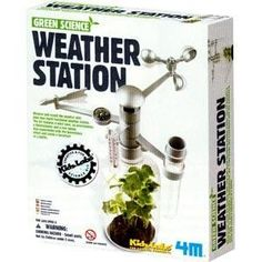 Weather Station Kit Study Greenhouse Effect 4M® Green Science Kidz Labs® Green is hot! Learn about your climate while tracking weather changes and conducting experiments on the greenhouse effect. The