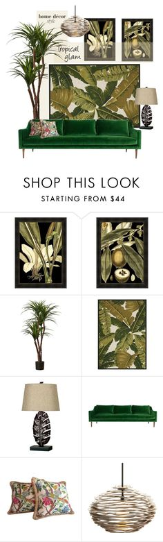 """""""Tropical Glam"""" by youaresofashion ❤ liked on Polyvore featuring interior, interiors, interior design, home, home decor, interior decorating, Home Decorators Collection, Kenroy Home, ModShop and Arteriors"""