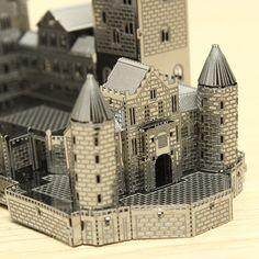 Corte Láser Piececool Castillo de Neuschwanstein DIY 3D Puzzle Modelos