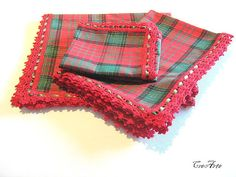Christmas Tablecloth Placemat and Napkin Set by CreArtebyPatty