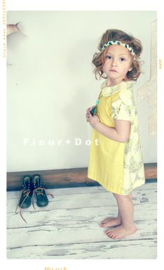 Toujours Soleil Color Block Peter Pan Collar Girls Shift Dress – Fleur + Dot #fleuranddot