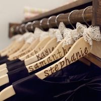 Great idea for bridesmaids dresses! Or maybe even a great idea for some of the hangers in my closet --