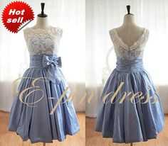 Lace Bridesmaid Dress  Blue bridesmaid Dress / Cheap by epindress, $88.00