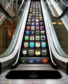 """The apps on the iphone are never ending and thus it can improve your lifestyle and Targeted to male and females 18-40 who have an average-high income and are looking to buy a new phone. Average to High Income since Apple products are in the expensive range. People who are """"tech sav"""" and like to experience the latest gadgets.  1)Executional Ideas: People will see the ad as they go up the elevator"""