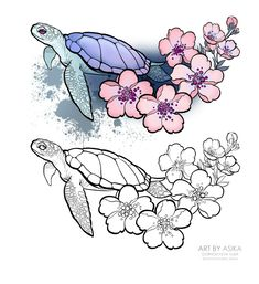 50 Arm Floral Tattoo Designs for Women 2019 - Page 19 of 50 tattoo - arm . Pencil Art Drawings, Art Drawings Sketches, Tattoo Sketches, Animal Drawings, Cute Drawings, Tattoo Drawings, Natur Tattoos, Kunst Tattoos, Cute Tattoos