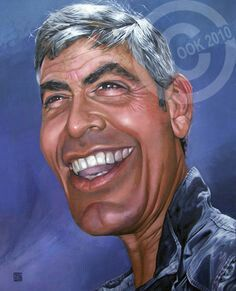 Cartoon: George Clooney (small) by Russ Cook