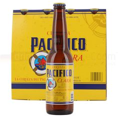 Pacifico light beer. Mexico
