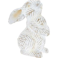 Distressed White Decorative Bunny