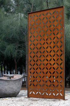 corten steel fence - Google Search