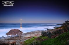 Aaron Goulding Photography 1973 Prospect st. La Jolla Ca 92037 The moonset over the ocean early this morning was breathtaking! -Shot with Nikon D300s. La Jollla CA.AAron Goulding Photography