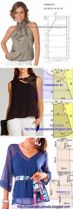 3 blusa con un patrón simple | El mundo de la mujer