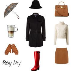 """""""Rainy Day Outfit"""" by angelarcher5 on Polyvore"""