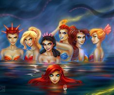 20 Pictures of Disney Princesses Gone Bad | Ariel is threatening us with a dinglehopper